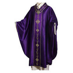 Chasuble In Wool With Embroidered Gallon