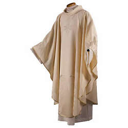 Chasuble In High Quality Wool Jacquard Fabric