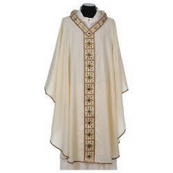 Chasuble With Golden Braided Neckline 100 Wool