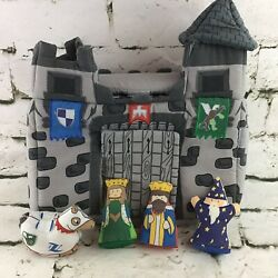 Pockets Of Learning Medieval Castle Plush Playset W/king Queen Horse Wizard 1997