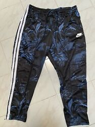 Nike Sportswear Blocked Logo Floral Track Pants Black AR1613 010 3XL New