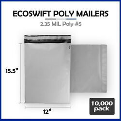 10000 12x16 Ecoswift Poly Mailers Plastic Envelope Shipping Mailing Bags 2.35mil