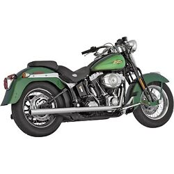 Vance And Hines - 16793 - Softail Duals Exhaust System Chrome