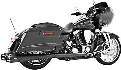Freedom Performance Comp. Dual Exhaust Sys. 09-14 Harley Davidson Blk W/ Blk