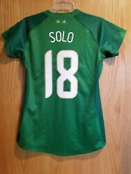 Nike Usa Us Womens Soccer Uswnt 2007 World Cup Goalkeeper Jersey Hope Solo 18 L