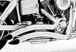 Sharp Curve Radius Complete Dual Exhaust System Harley Davidson Chrome And03991-05