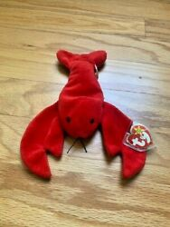 Ty Beanie Baby Pinchers The Lobster 1993 Pvc Pellets