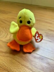 Ty Beanie Baby Quackers The Duck 1993 Pvc Pellets