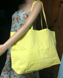 Brand New Kate Spade Yellow Tote XL Large Cotton Fabric Reusable Tote Beach Bag $9.88