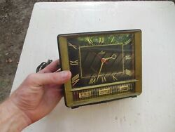 Lux Electric Clock 5125 Series 1960's Calender Edition For Repair