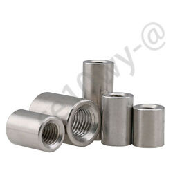 Thread Sleeve Rod Bar Stud Round Connector Tube Long Nuts A2 Stainless Steel