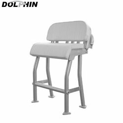 Dolphin Center Console Pro2 T Top Leaning Post Boat Seat White Cushion
