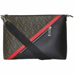 AUTH Fendi Logo Motif Leather Design Messenger Bag _2567 $1,790.17