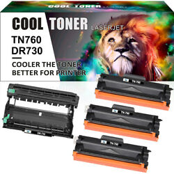 Dr730 Drum Tn-760 Toner Compatible For Brother Hl-l2350dw Hl-l2370dw Mfc-l2710dw