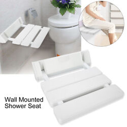 Wall Mounted Shower Seat Bathroom Bench For Home Sauna Room Use White