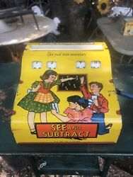 Vintage Wolverine See And Subtract Tin Toy