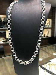British Belcher Silver Oval Chain Necklace 26 11mm 87gr Brand New 925 Solid