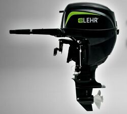 9.9 Hp Lehr Short Shaft Outboard Motor With 31lb Liquid Draw Composite Tank