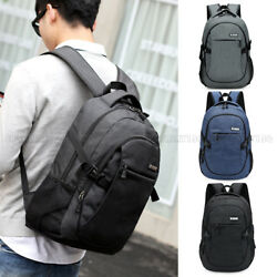 Anti theft USB Charging Backpack Laptop Notebook Travel School Bag Mens Womens $18.89