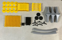 Disney Vintage Monorail Track 162 Pieces With Support Beams Columns And More