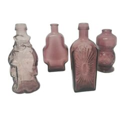 Vintage 5 Bitters Wheaton Medicine Bottles Lot Of 4 Balsom Of Life