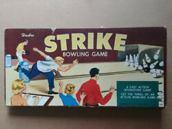 Vintage 1960and039s Hasbro Strike Bowling Game Unused Small Bowling Alley New And Rare