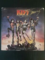 KISS AUTOGRAPHED SIGNED DESTROYER LP RECORD 4 SIGNATURES GENE PAUL ACE PETER