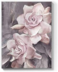 Pink Rose Flower Canvas Wall Art Painting Floral Prints Bedroom Decor 12x16in