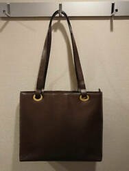 AUTH Gucci Shoulder Bag Simple Design Rare Brown Isetan Purchase _7980 $1,241.67