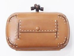 Bottega Veneta Knot Mini Leather Clutch Bag Stitch Belt Pocket Design Rar _14807 $1,177.65