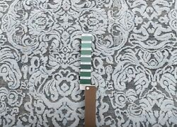 8x10 Rug Modern Deco Hand Knotted Grey Silver Carpet....8538....242x300 Cms.