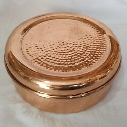 Vintage Copper Kitchen Utensils Handcrafted Spices Boxes With Lid 7 Bowl 1 Spoon