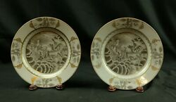 A Pair Of Chinese Export Porcelain Plates 18th Century