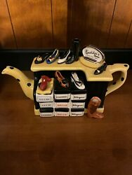 Tony Carter Limited Ed Emeldaandrsquos Shoes Ceramic Teapot Signed Numbered Shoe Store