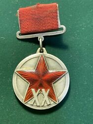 Authentic Jubilee Medal For 20 Years Of The Workers' And Peasants Red Army.