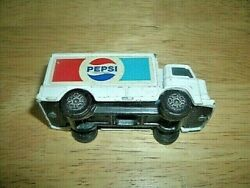 VINTAGE CORGI JUNIORS PEPSI DELIVERY TRUCK-LEYLAND TERRIER-1980s-USED