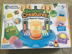 Learning Resources Beaker Creatures Liquid Reactor Super Lab Toy Used