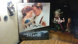 Titanic The Movie Poster,wood,hangs,vg