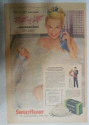 Sweetheart Soap Ad Floating Lift Soap From 1940's 11 X 15 Inches