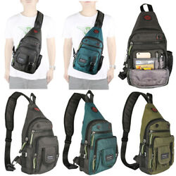 Nylon Sling Bag Sling Backpack Chest Bag Pack Shoulder Bag for Men Crossbody Bag $19.80