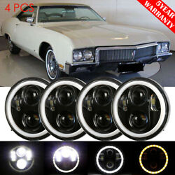 Dot 5.75 5-3/4 Inch Round Led Headlights 4pc Hi/lo Beam For Buick 1958-1975