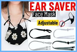 Ear Savers Adjustable Strap Face Mask Extender Mask Clips Holder Lightweight  $8.99