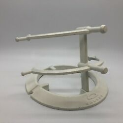 2 Tier OAKLEY Display Stand Dealer Double Level Eyeglasses WHITE GOOD USED $27.99