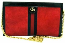 Womens Designer Gucci Ophidia LeatherSuede Bag $1,439.35