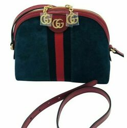 Womens Designer Gucci Small Ophidia Blue Shoulder Bag $1,046.80