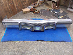 1977 1978 1979 Coupe Sedan Deville Front Bumper Oem Used Dent Cadillac Fleetwood