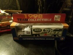 New York Jets 1998 Nfl Limited Edition Tractor Trailer Truck Semi Nib White Rose