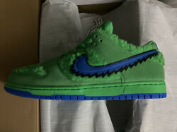 """In Hand 100 Authentic Grateful Dead X Nike Sb Dunk Low """"green Bear"""" Size 11"""
