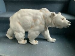 Meissen Large 19andrsquo Bear Mint Condition Very Rare