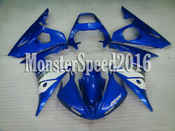 Injection Blue Plastic Set Fairing Fit For Yamaha 2003-2005 Yzf R6 And R6s 06-09